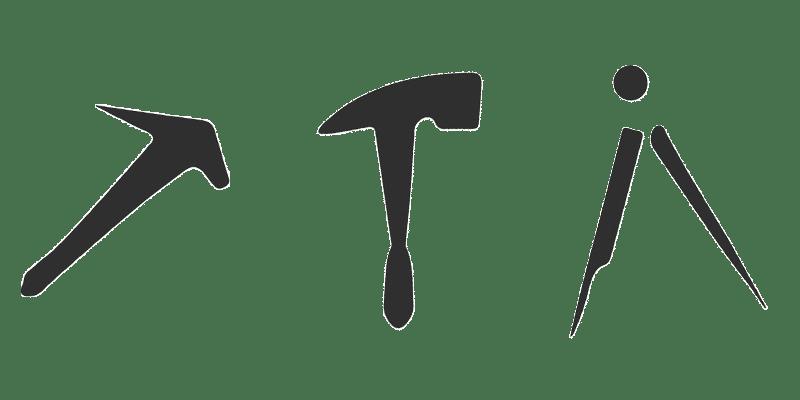 Dachdecker-Schreiber-Symbole